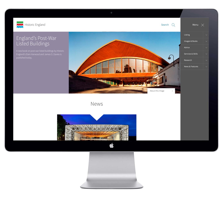 Historic England desktop website screenshot