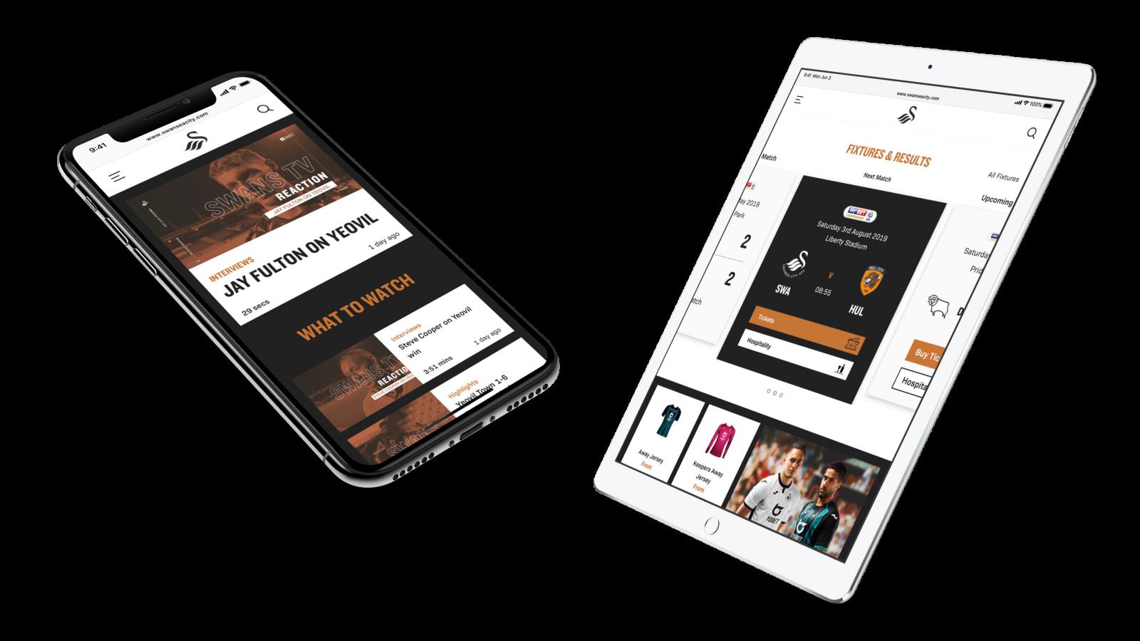 Swansea City Fc App Website Other Media